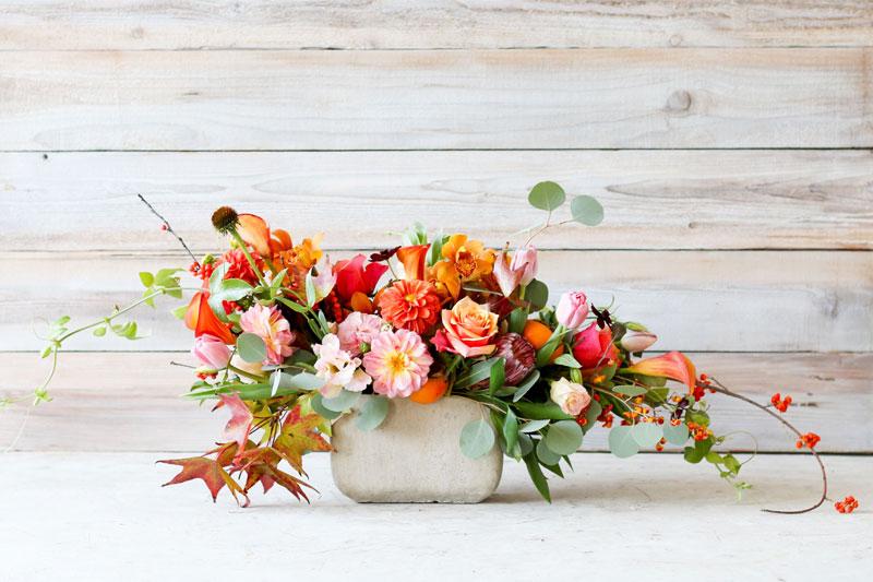 arranjo de flores para casa