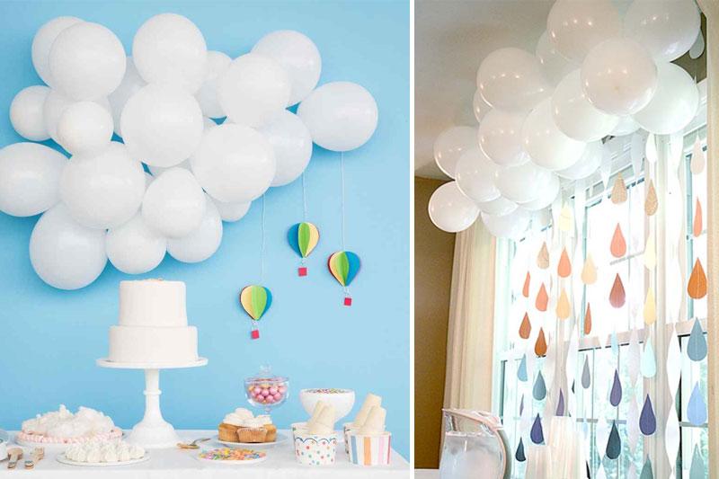 baloes decoracao de mesversario de bebe
