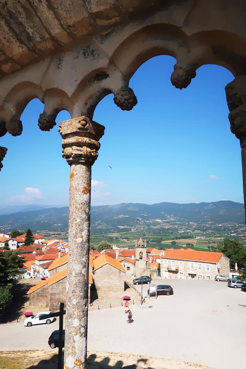 Aldeia histórica de Belmonte em Portugal