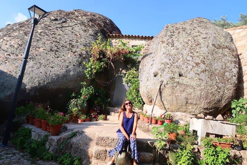 Aldeia histórica Monto Santo em Portugal