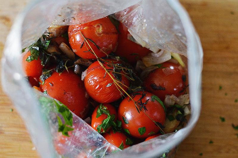 receita de confit de tomate com alecrim