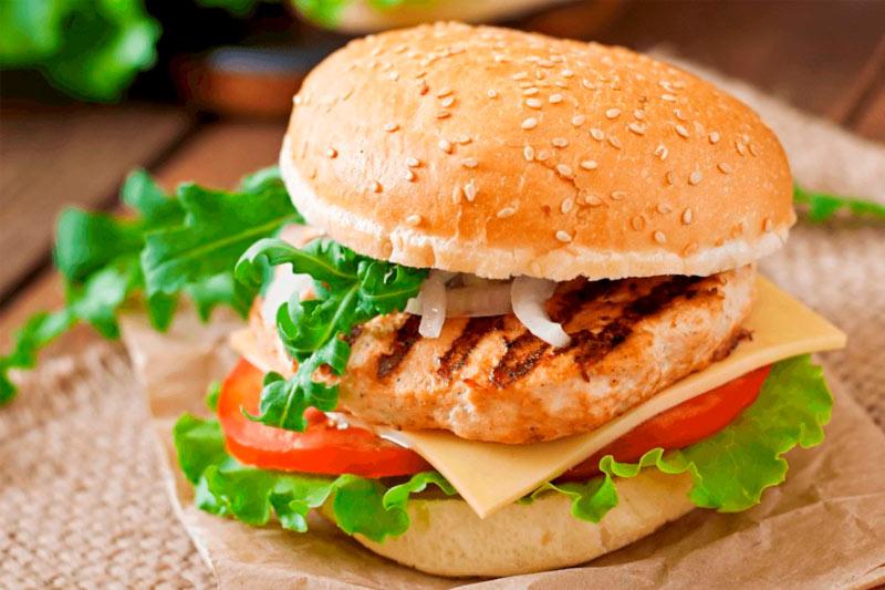 hambúrguer de frango receita