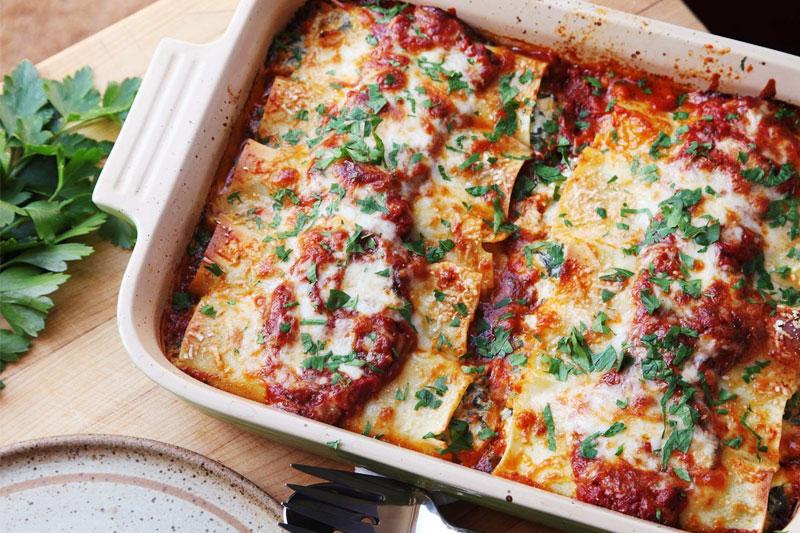 receita fácil de panqueca com recheio de carne moída