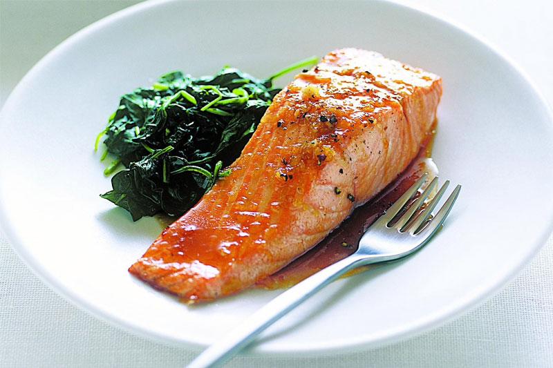 receita de filé de salmão com espinafre