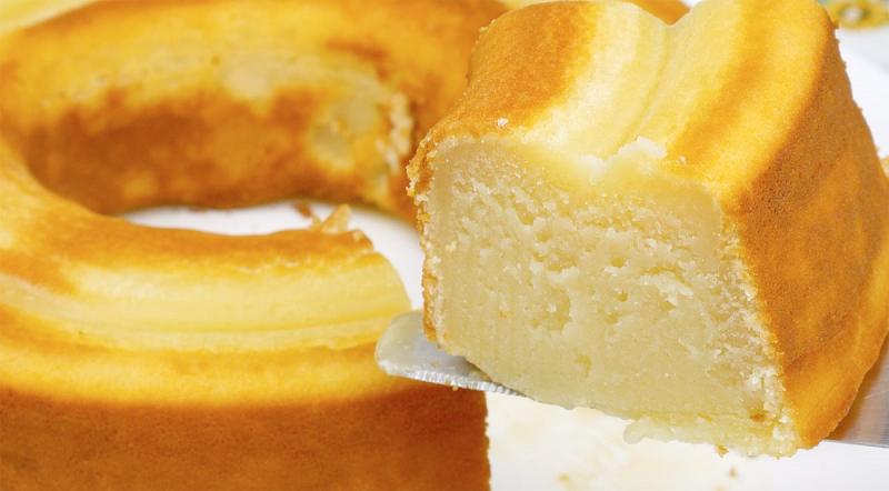 Receita: bolo de leite simples