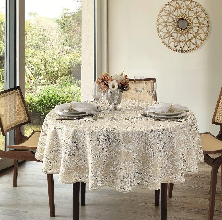toalhas de mesa redonda