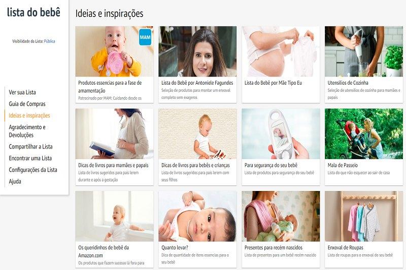 Ideias e Inpirações Lista de Bebê