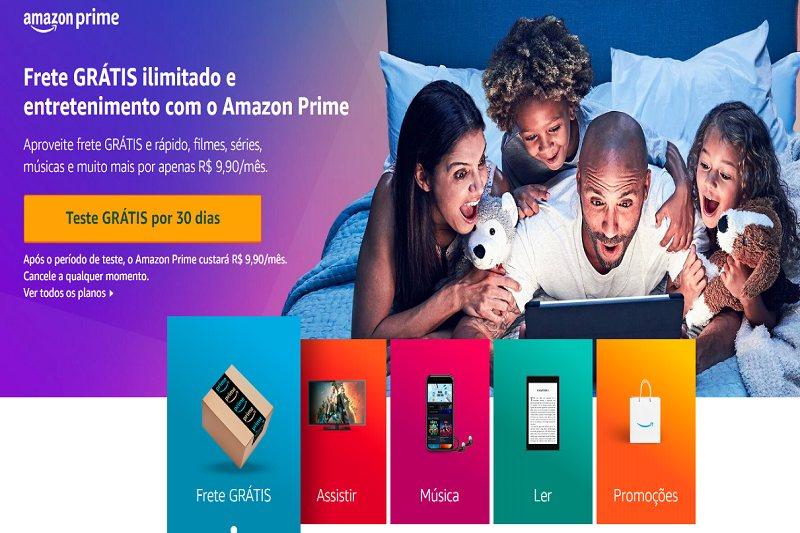 Amazon Prime Teste 30 Dias