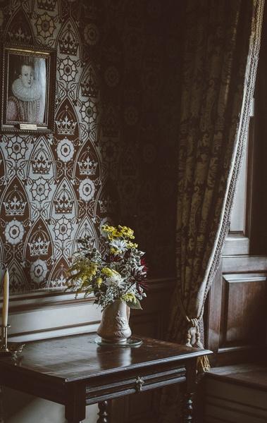 Papel de parede vintage com flor
