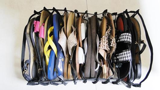 organização sapatilhas