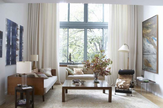 Contemporary-Living-Room-Curtain-Ideas
